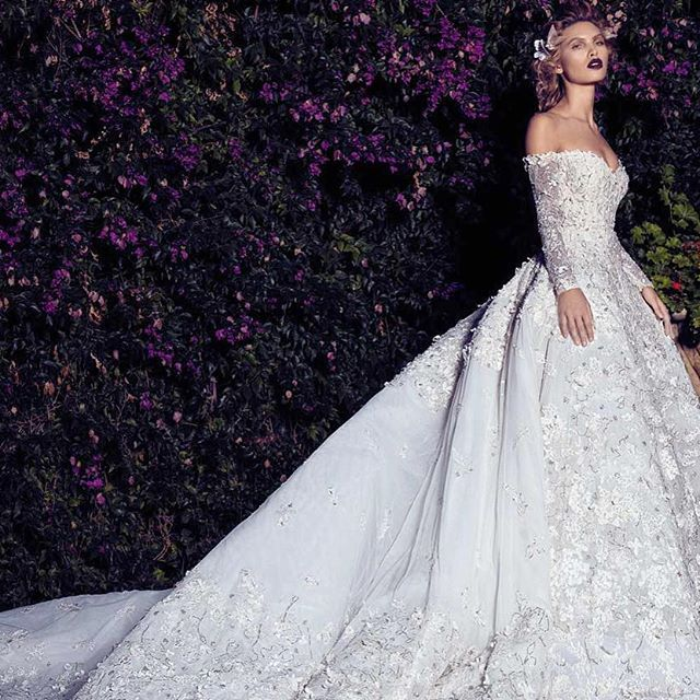 This Elegant Off The Shoulder #gown By Saiid Kobeisy Is Fit For Royalty