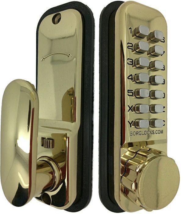 Borg Lock Digital Lock 2500 Holdback 60mm Latch Brass - access control - digital locks - Digital Lock 2500 Holdback 60mm Latch Brass - Timber, Tool and Hardware Merchants established in 1933