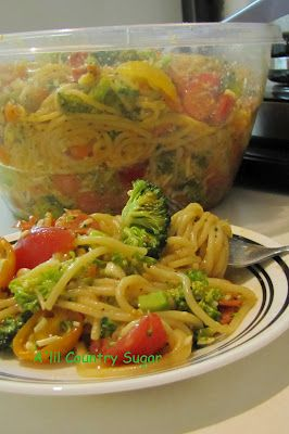 Spaghetti Salad that will be a repeat in your kitchen for a very long time.....