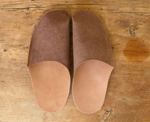 Brown Leather Slipper