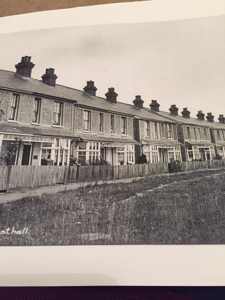 Westwood Road, Rusthall before houses were built on the opposite side of the road.