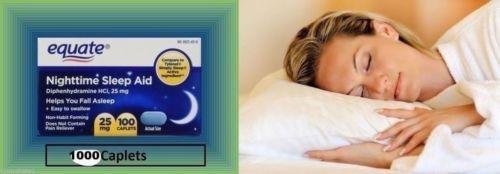 Sleeping Pills: Equate Nighttime Sleep Aid 25Mg 1000 Mini Caplets Diphenhydramine Hci Melatonin -> BUY IT NOW ONLY: $88.59 on eBay!