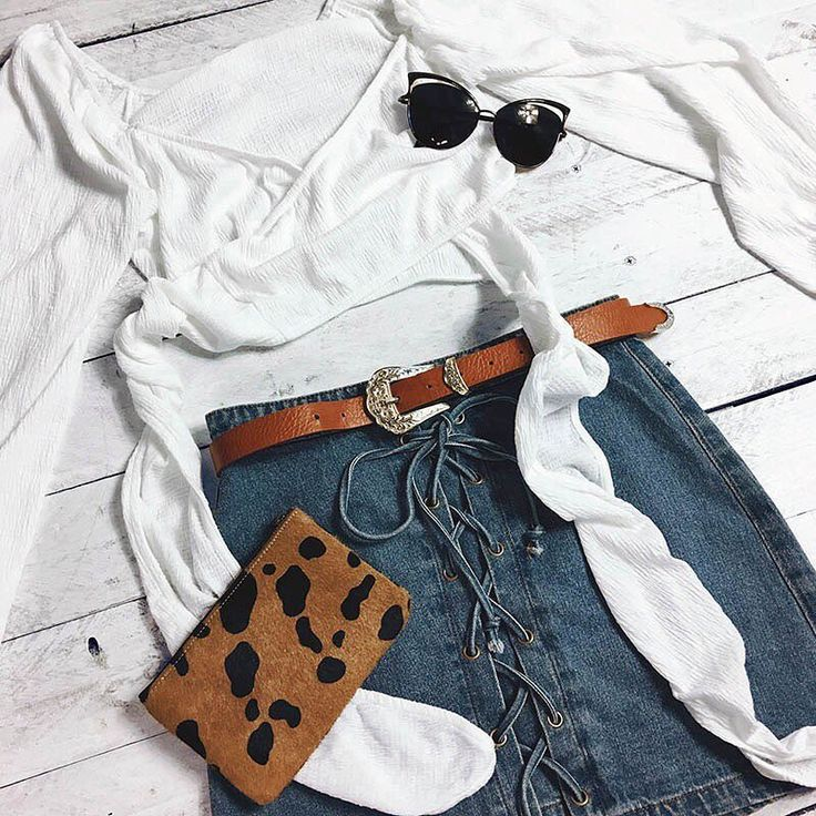 """STELLY Be groovy this weekend in the """"Summertime Madness Top"""" paired with the """"Funky Fresh Denim Skirt"""" and styled with the """"Orange Sherbet Womens Low Waisted Belt"""" the """"Quay Australia Lana"""" sunnies and the """"Status Anxiety Maud Wallet"""" to keep all your extra goodies in 💃🏼🙌🏽 Shop it now via https://stelly.com.au/v3qDU2 https://stelly.com.au/yVrtwo https://stelly.com.au/G7FchP https://stelly.com.au/tuZLoq https://stelly.com.au/lZUtME"""