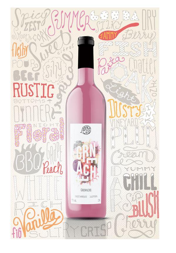 Wine Typography Poster by Lauren Owen, via Behance