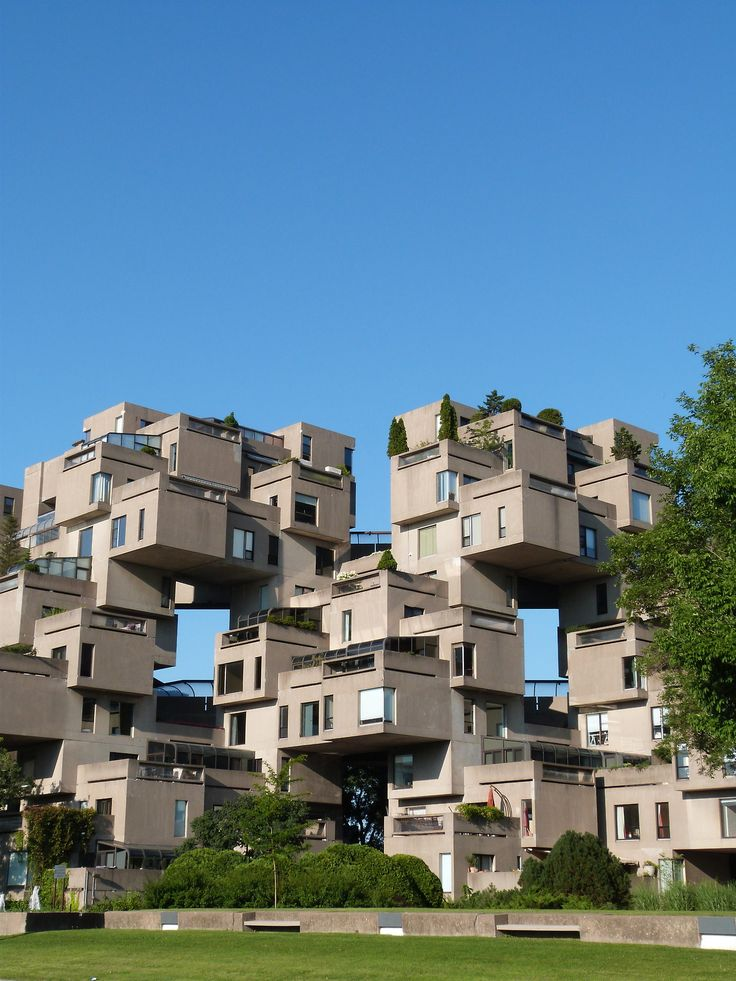 Project: Habitat 67 Location: Montréal, Canada Architect: Moshe Safdie Form: Clustered
