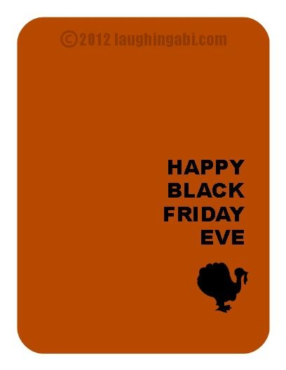 Free Thanksgiving E-Card - Laughing Abi