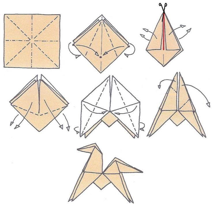 origami cheval                                                                                                                                                                                 Plus
