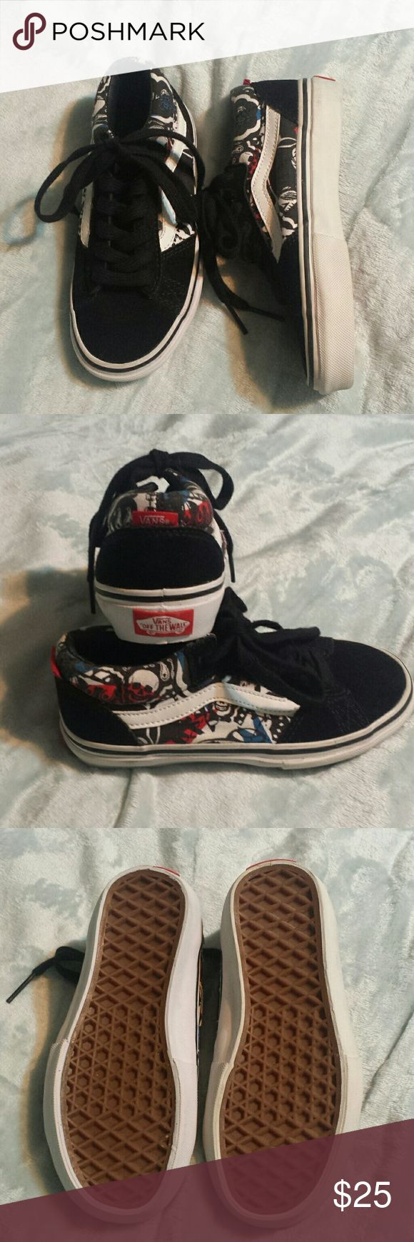 NWOT boys Vans sneakers Brand new, never worn,  Vans sneakers size youth 13. My son tore the tags off and never wore them.  Now he's out grown them.  My loss=your gain. Vans Shoes Sneakers