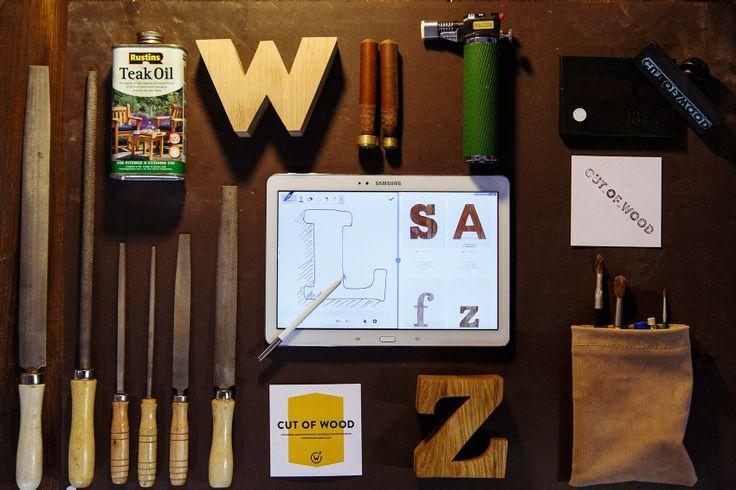 Новые деловые: деревянные буквы Cut of Wood