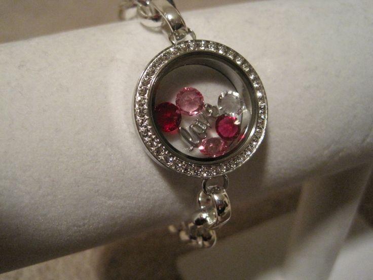 "Origami Owl Valentine's Day ""love"" bracelet. http://andielong.origamiowl.com"