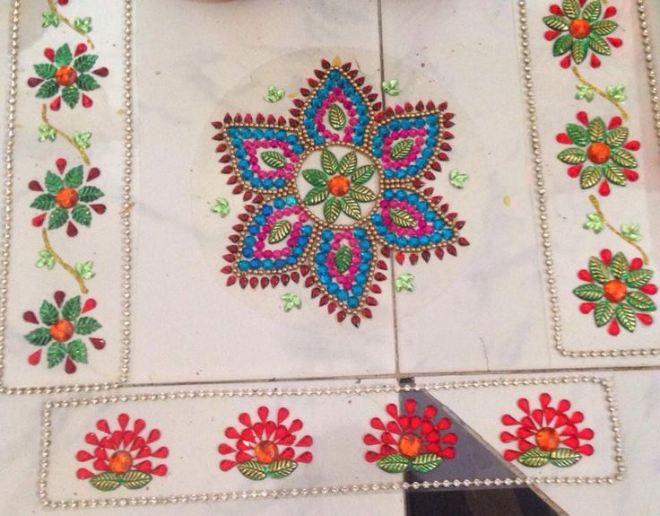 Kundan rangoli design