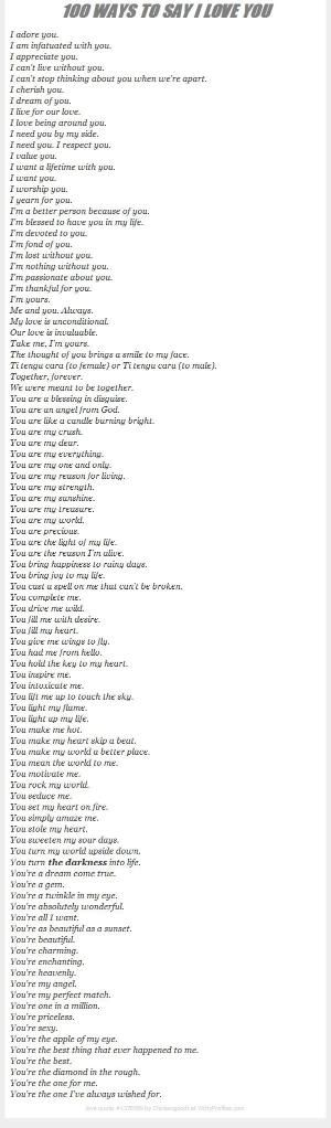 100 Ways To Say I Love You by viola