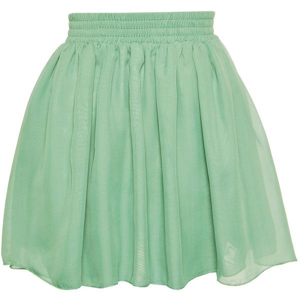 Hearts Bows Mint Green Carla Skirt ($31) ❤ liked on Polyvore