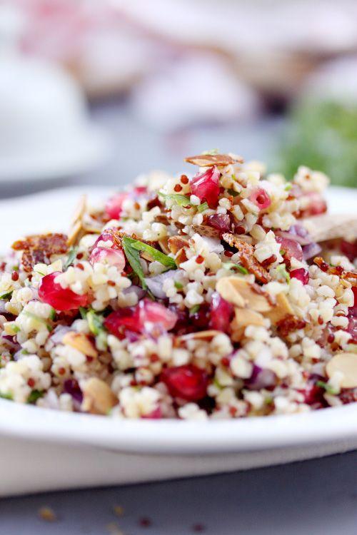 Taboulé de quinoa/boulgour à la grenade