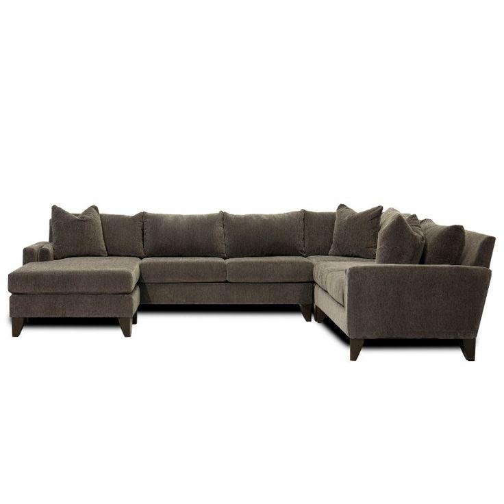 Fog Gray 3 Piece Sectional Sofa with RAF Loveseat - Riley ... on Riley 3 Piece Sectional Charleston id=83528