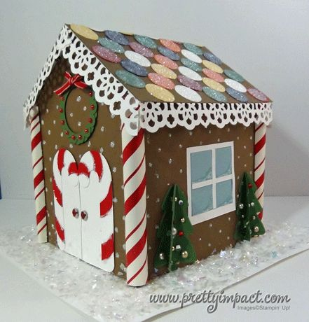 This paper gingerbread house is too cute. Maybe next year.........