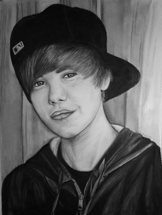 Yes it's JB, but it's a really good drawing of a face