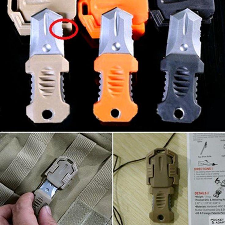 Molle Strap Webbing Carabiner Ribbon Buckle EDC Handy Tools Mini Knife Climbing Sport Tool