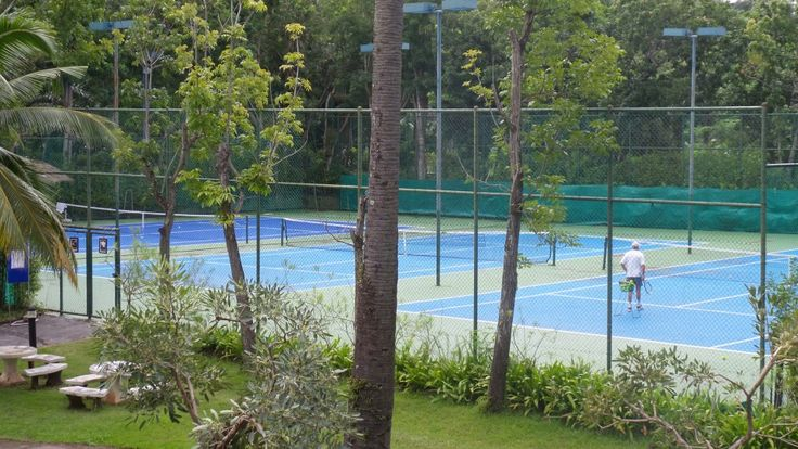 Tennis Courts at the Hilton Phuket Arcadia Resort & Spa in Karon, Thailand