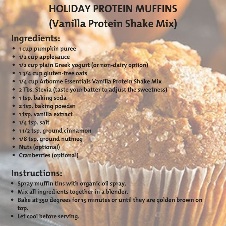 Try out this easy, protein packed muffin recipe using Arbonne's protein shake mix to get you in the Holiday mood!