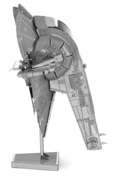 The deadly Slave I was infamous for its association with Jango Fett, a bounty hunter in Mandalorian armor. Fett packed the craft with weapons, from laser cannons and projectile launchers to seismic charges. The iconic Boba Fett inherited Slave I upon Jango's death.