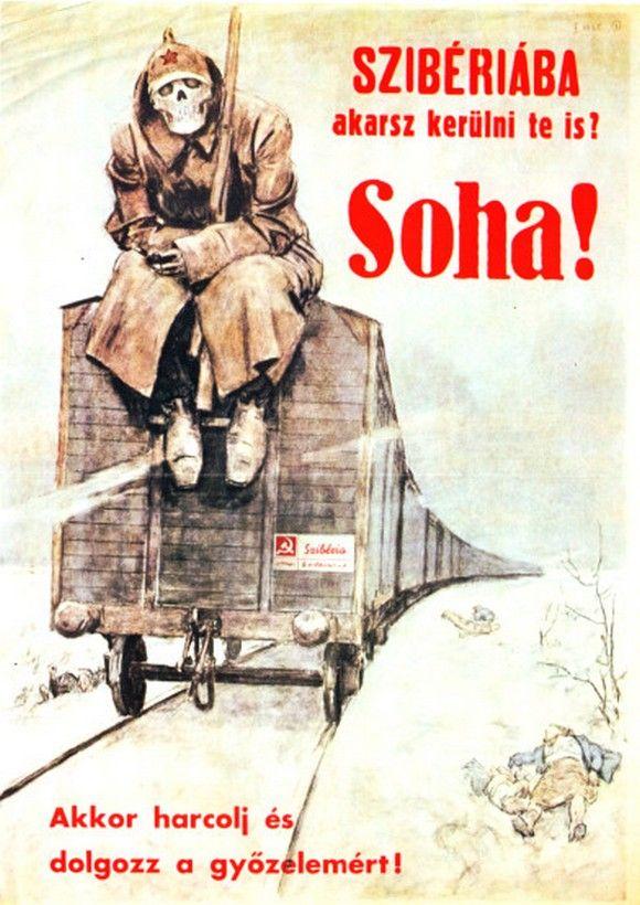 Hungary, anti-Soviet poster