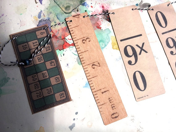 Vintage inspired backtoschool paper garland  by archivioGotico, €6.00