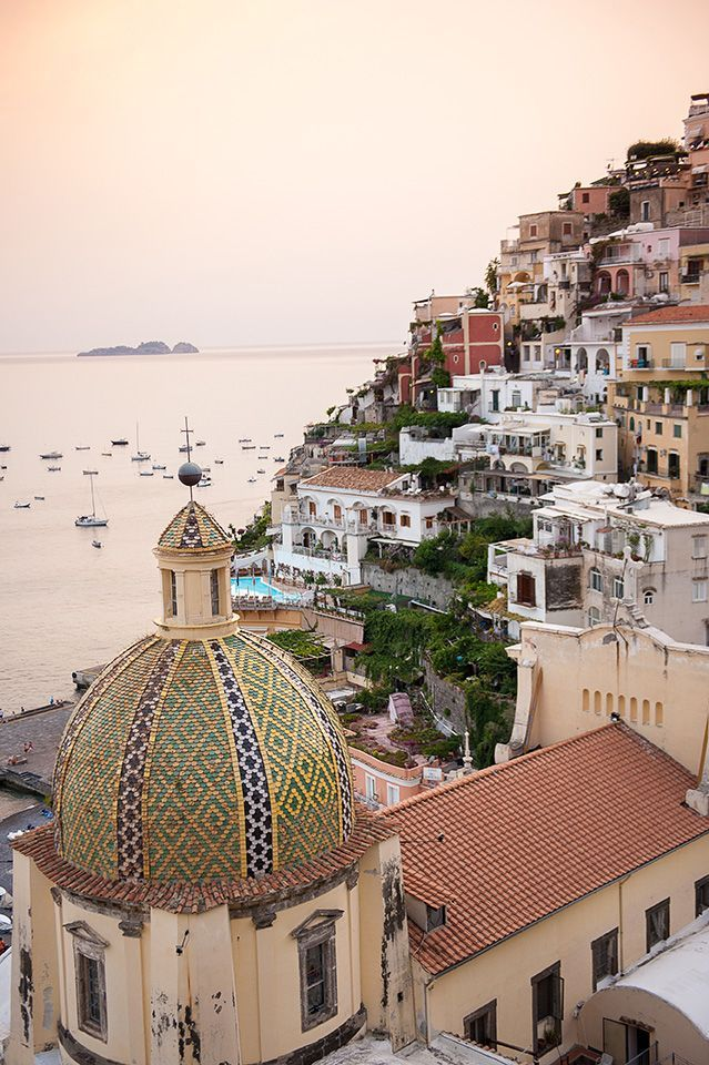 The view from the famed Le Sirenuse hotel in Positano... and ALSO the view from our very own Villa Santa (sleeps 6) located just below the hotel! Visit http://RentVillas.com for more details.