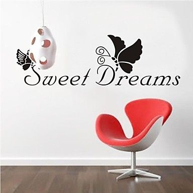 ZOOYOO® removable colorful cute sweet dreams 3D wall sticker home decor wall stickers for kids/lbed room – EUR € 8.17