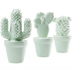 Decorazione Cactus con Fiori Menta Kare Design