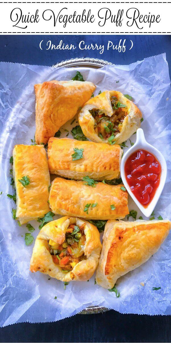 Quick Vegetable Puff Recipe (Indian Curry Puff) : #ad @PFPuffPastry #InspiredByPuff #vegetable #puff #curry #puff #pastry
