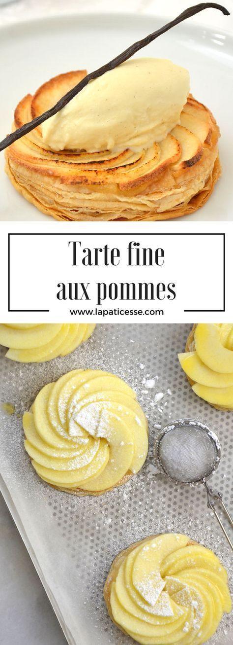 Rezept für feine französische Apfeltarte mit Blätterteig und Vanilleeis * Recipe for Tart with apples and vanilla ice cream * Recette de Tarte fine aux pommes * Made by La Pâticesse