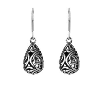 Aroha Drops (Love) - Our delicate koru duo touch to create a beautiful love heart. Aroha is the Maori word meaning love... - NZ silver pendant - evolve-jewellery.co.nz