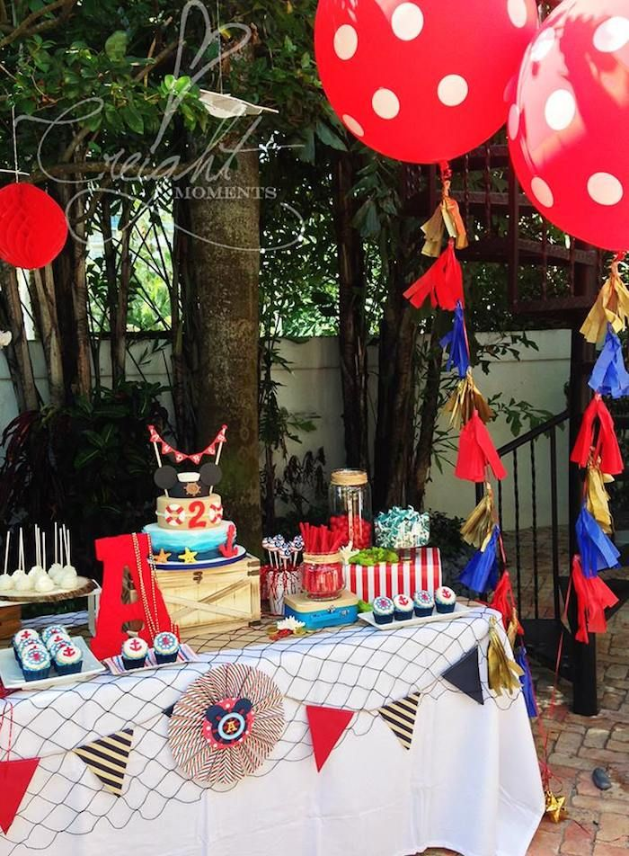 Nautical Mickey Mouse Party via Kara's Party Ideas KarasPartyIdeas.com #MickeyMouse #NauticalMickeyMouse #PartyIdeas #PartySupplies #MickeyMouseParty #BoyPartyIdeas (6)