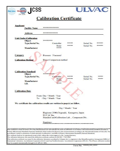 11+ Calibration Certificate Templates Free Printable Word  PDF