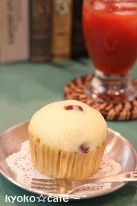 「クランベリーのチーズ蒸しぱん☆」きょうこcafe | お菓子・パンのレシピや作り方【corecle*コレクル】