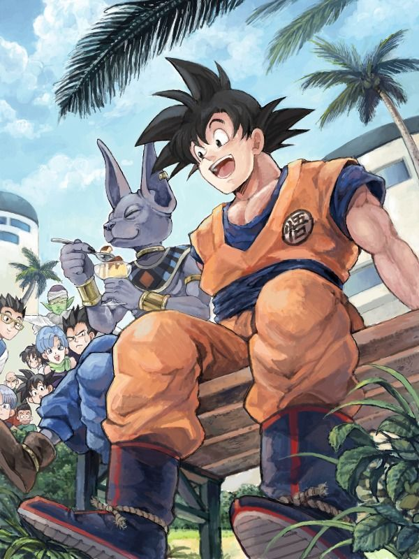 Dragon Ball Z Battle of Gods. I love it how they're all chilling out. - Visit now for 3D Dragon Ball Z compression shirts now on sale! #dragonball #dbz #dragonballsuper