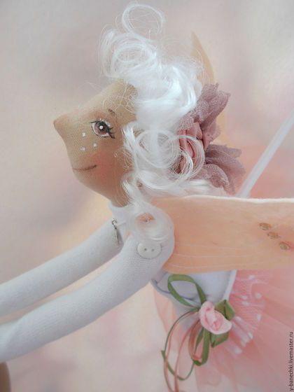 Fabric toy angel / Сказочные персонажи ручной работы. Ярмарка Мастеров - ручная работа. Купить Ангелина. Handmade. Бледно-розовый, ботинки ручной работы
