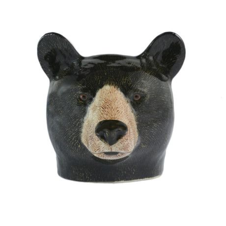 Quail Ceramics Black Bear Egg Cup - Trouva