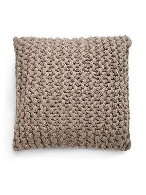 Giant Knit Alpaca Pillow