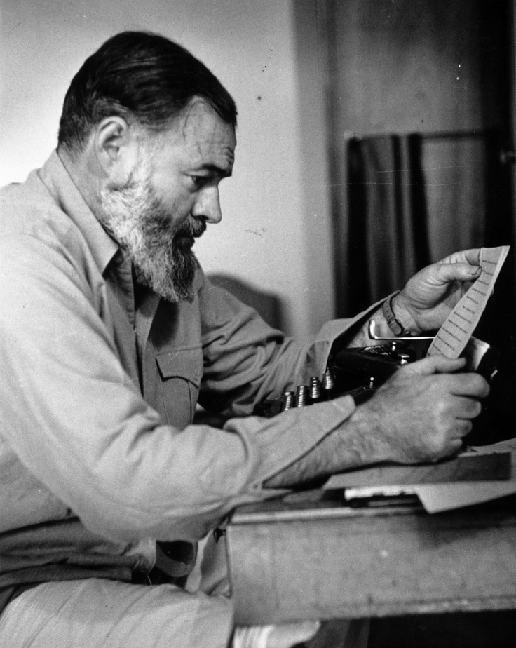 Ernest Hemingway (1944 - Photo by Kurt Hutton/Getty Images)Author, Inspiration Writers, Favorite Writers, Ernest Hemingway, Hemingway Favorite, Ernest Miller, Writing, Favorite Book, People
