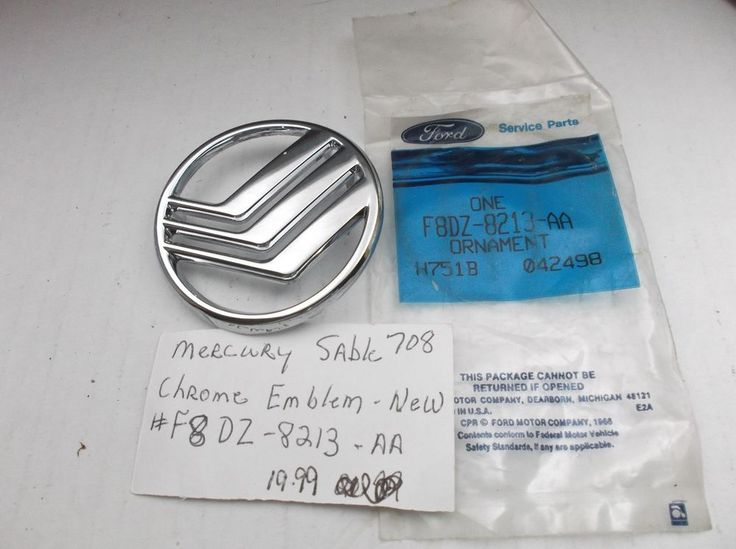 Mercury Sable Front Grille F8DZ-8213-AA 98-99/F8DB-8B316-AA Emblem Badge oem 708 #Mercury