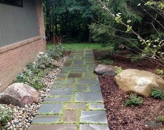 Creative spaces and walks - transitional - landscape - detroit - by Proscape LLC