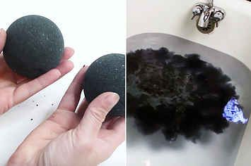 A Woman Re-Created That Creepy Black Bath Bomb IRL