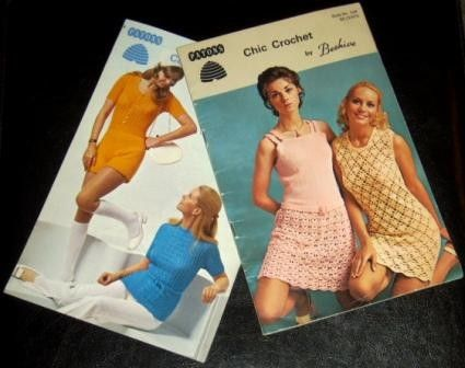 vintage chic crochet fashion back in the day!  http://www.etsy.com/listing/47864738/vintage-craft-booklet-hotpants-and-chic