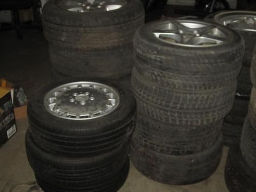Fortera 265 / 50r20 / 1 tire / new Continental 225 x 45 r 17 / 2 tires Firestone P215 70 r 15 x 2 tires Bridgestone 215 / 50 r 17 x2 tires Bridgestone 225 / 65 r 17 x3 tires Mastercraft 235 / 60 r 17 x 1 tires Goodyear 205 / 55 r 16 x 1 tires