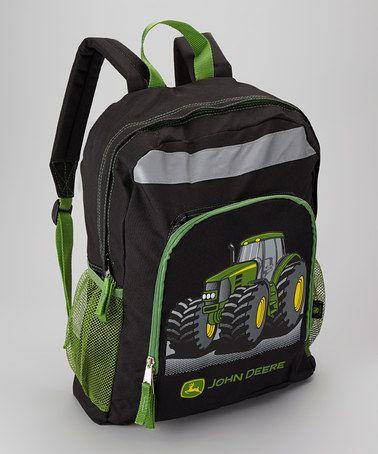 John Deere Black & Green Tractor Backpack | John deere ...