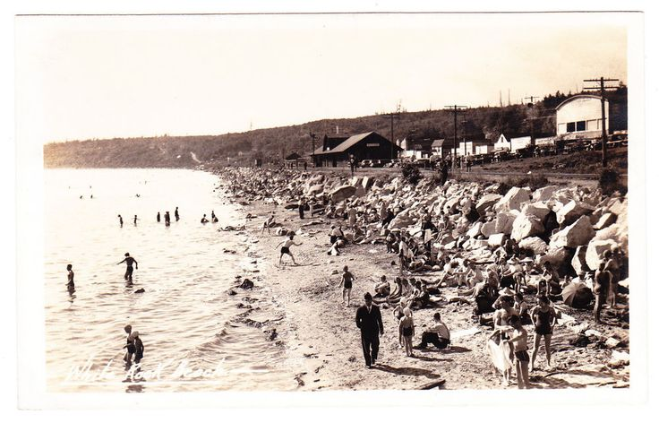 BC – WHITE ROCK, Beach and Great Northern Railway Station, Gowen c.1938-50 RPPC