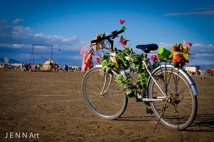 Afrikaburn Essential: Decorated bicycle