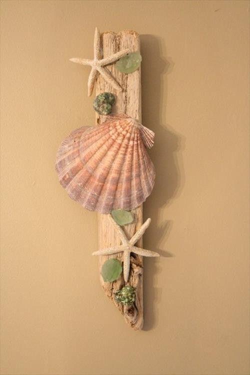 19あなたの家の装飾をリフレッシュする魅力的なdiy沿岸壁の装飾 19